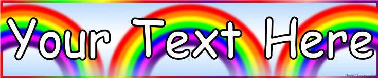 Editable rainbow-themed display banner template (SB9025 ...