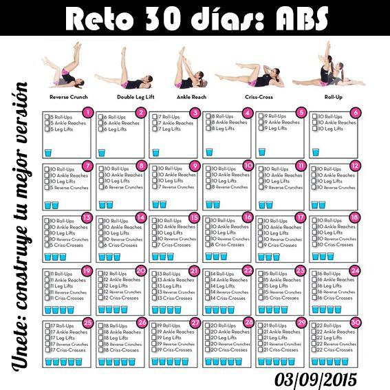 Pin de catalina en peace pinterest reto 30 dias abdominales oportunidad y septiembre - Como ponerse en forma en un mes ...
