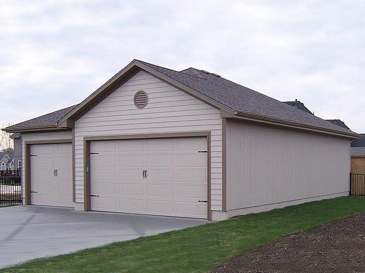 050g 0057 6 Car Garage Plan Offers 3 Tandem Bays 32 X40 Garage Plans Large Garage Plans Garage Plans With Loft