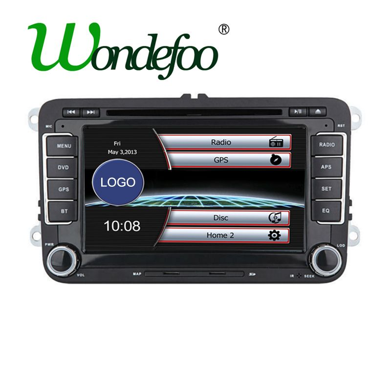 2 Din Voiture Dvd Gps Radio Stereo Pour Vw Golf 4 Golf 5 6 Passat