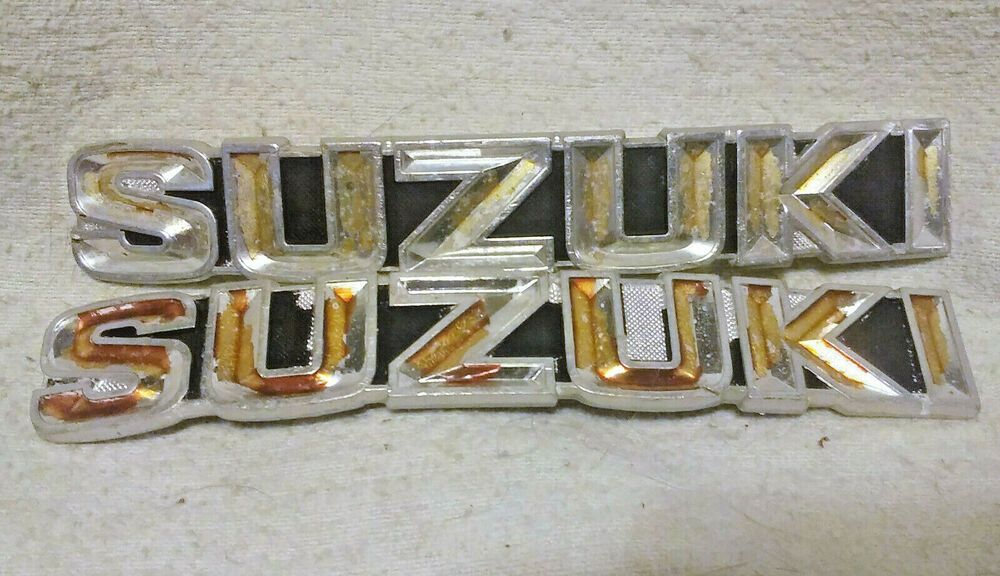 Advertisement Ebay 2 Used Suzuki Gas Fuel Tank Emblems Badges Please Read Item Description Crb Motorcycle Parts And Accessories Emblems Suzuki