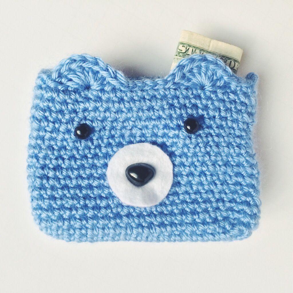 Crochet bear wallet free pattern perfect for lunch money or a crochet bear wallet free pattern perfect for lunch money or a quickly whipped gift bankloansurffo Gallery