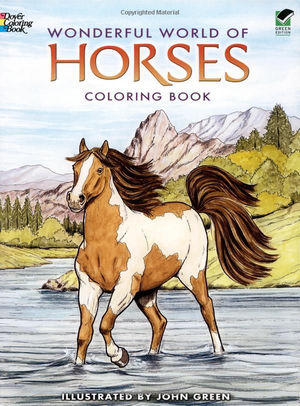 Wonderful World Of Horses Coloring Book Dover Nature Coloring Book John Green 0800759444656 Amazo Horse Coloring Pages Horse Coloring Books Horse Coloring