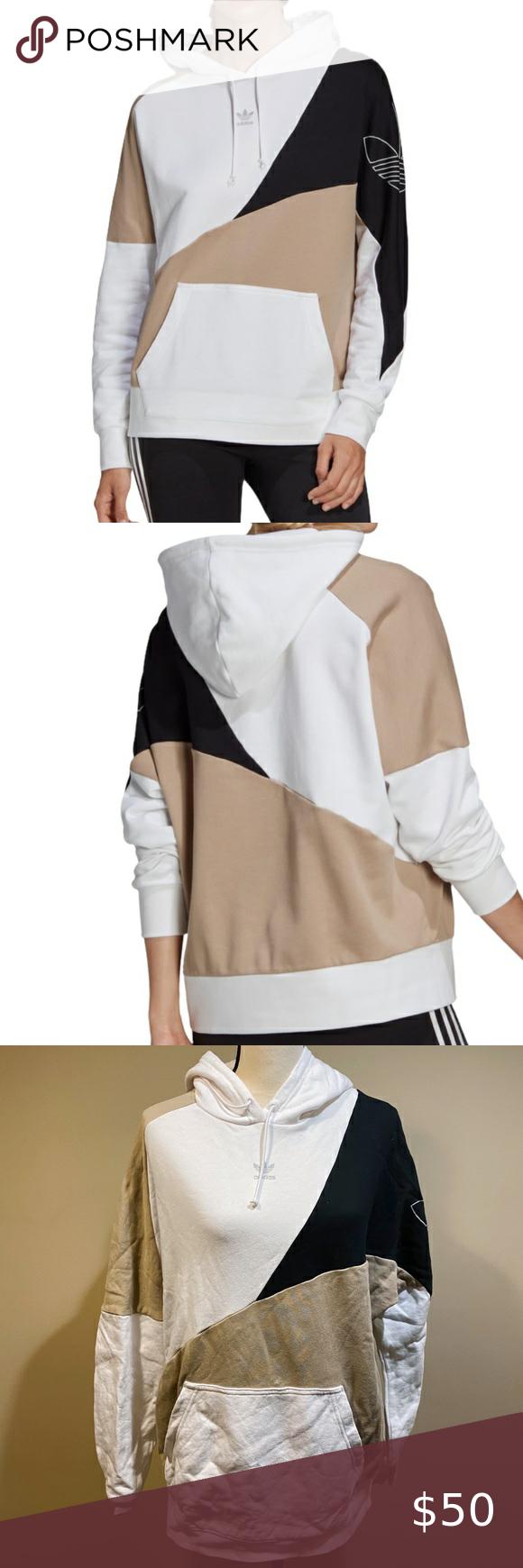 Adidas Originals Colorblock Hoodie Sweatshirt Clothes Design Sweatshirts Hoodie Fashion [ 1740 x 580 Pixel ]
