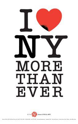 I Love New York More Than Ever. Milton Glaser.