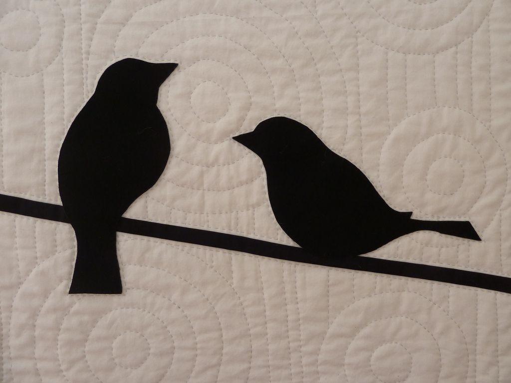 Quilting wool felt applique bird quilt ma boites a idees