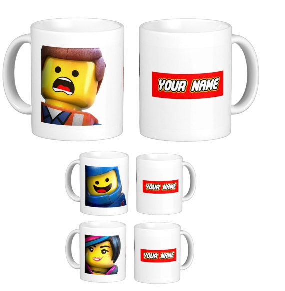 Personalised Gift Mugs Inspired by The Lego Movie by RivieraMugs ...