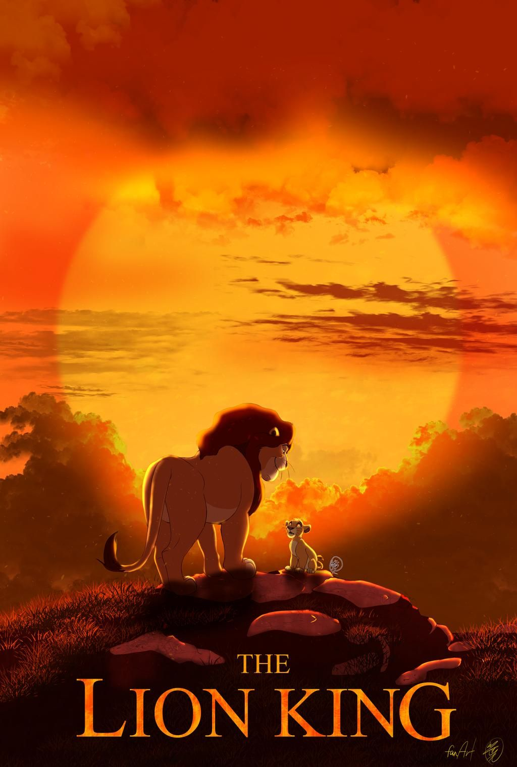 2019thelionking Poster Animation Version By Sasamaru Lion On Deviantart Lion King Pictures Lion King Poster Lion King Movie