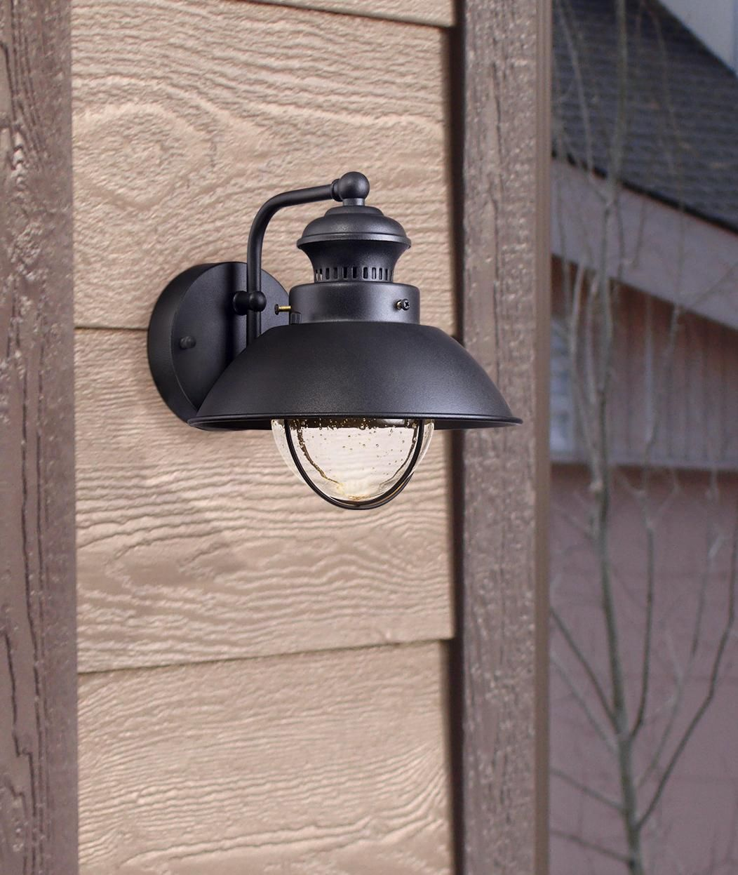 Fordham 8 High Black Led Outdoor Wall Light