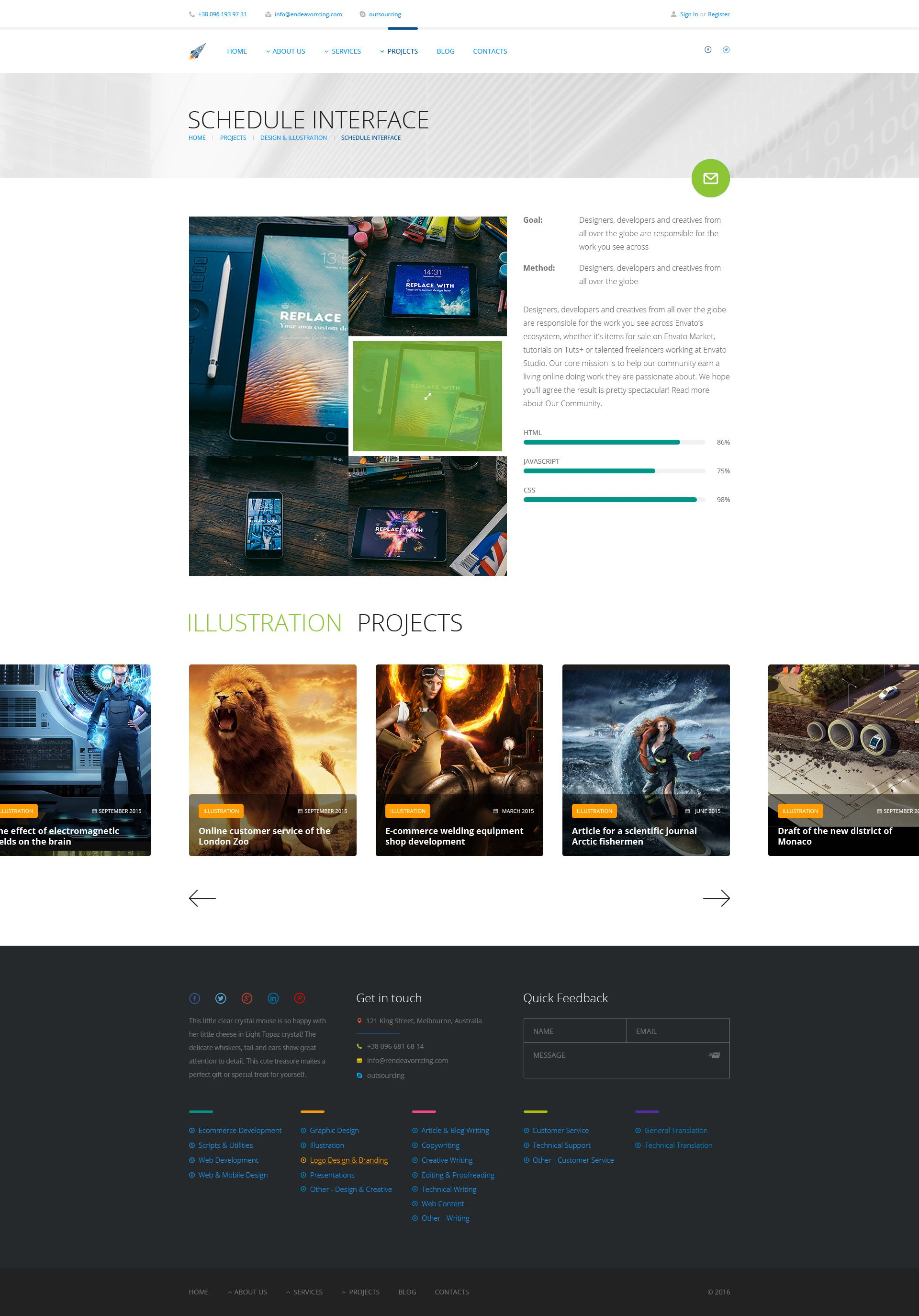 Endeavor Multipurpose It Digital Company Psd Template