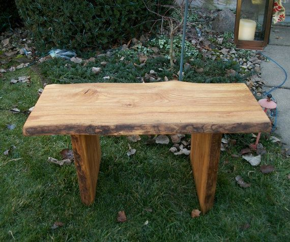 Unfinished Solid Hardwood Bedside Bench: Unfinished Rustic 3 Foot Garden Bench Wood Outdoor By