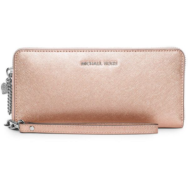 a8160188ffb22e MICHAEL Michael Kors Alex Travel Continental Wallet ($126) ❤ liked on  Polyvore featuring bags