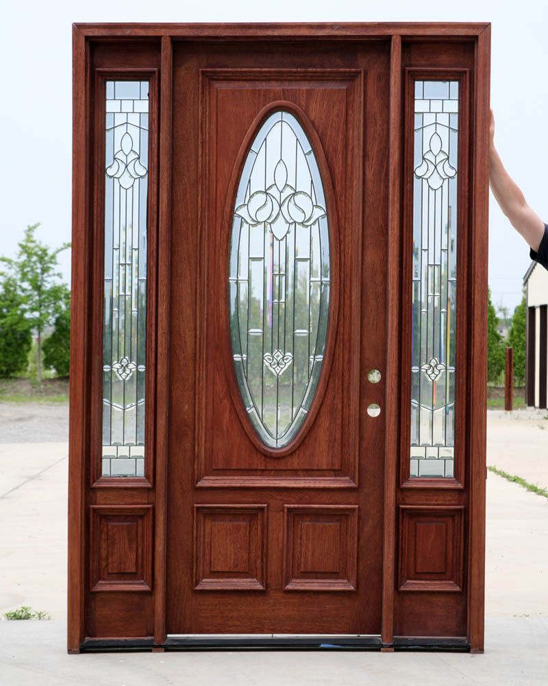 Wood door the finest materials jeld wen custom wood exterior doors bamboo is a solid wood door for Exterior front entry wood doors with glass