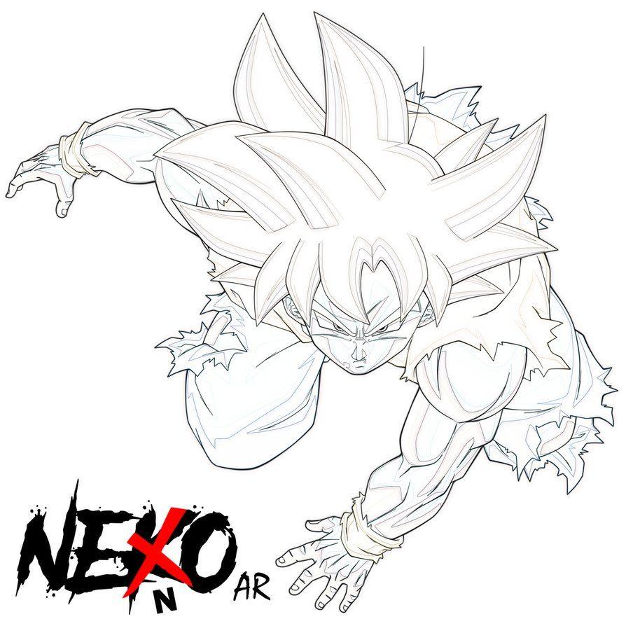 Pre Color Design By Nekoar Con Imagenes Goku Dibujo A Lapiz