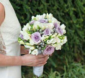 Bouquet Sposa Glicine.Bianco E Glicine Bouquet