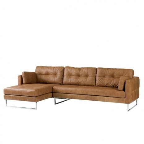Perfect Light Brown Leather Corner Sofa