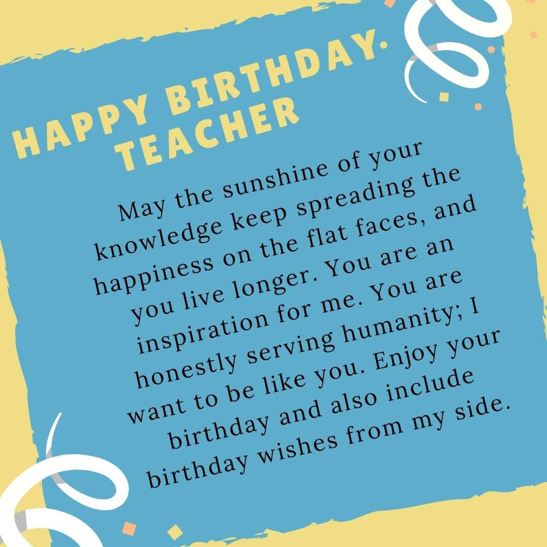 happy birthday wishes for teacher in 2020  birthday