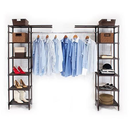 Seville classics she16199b expandable closet organizer bronze resin