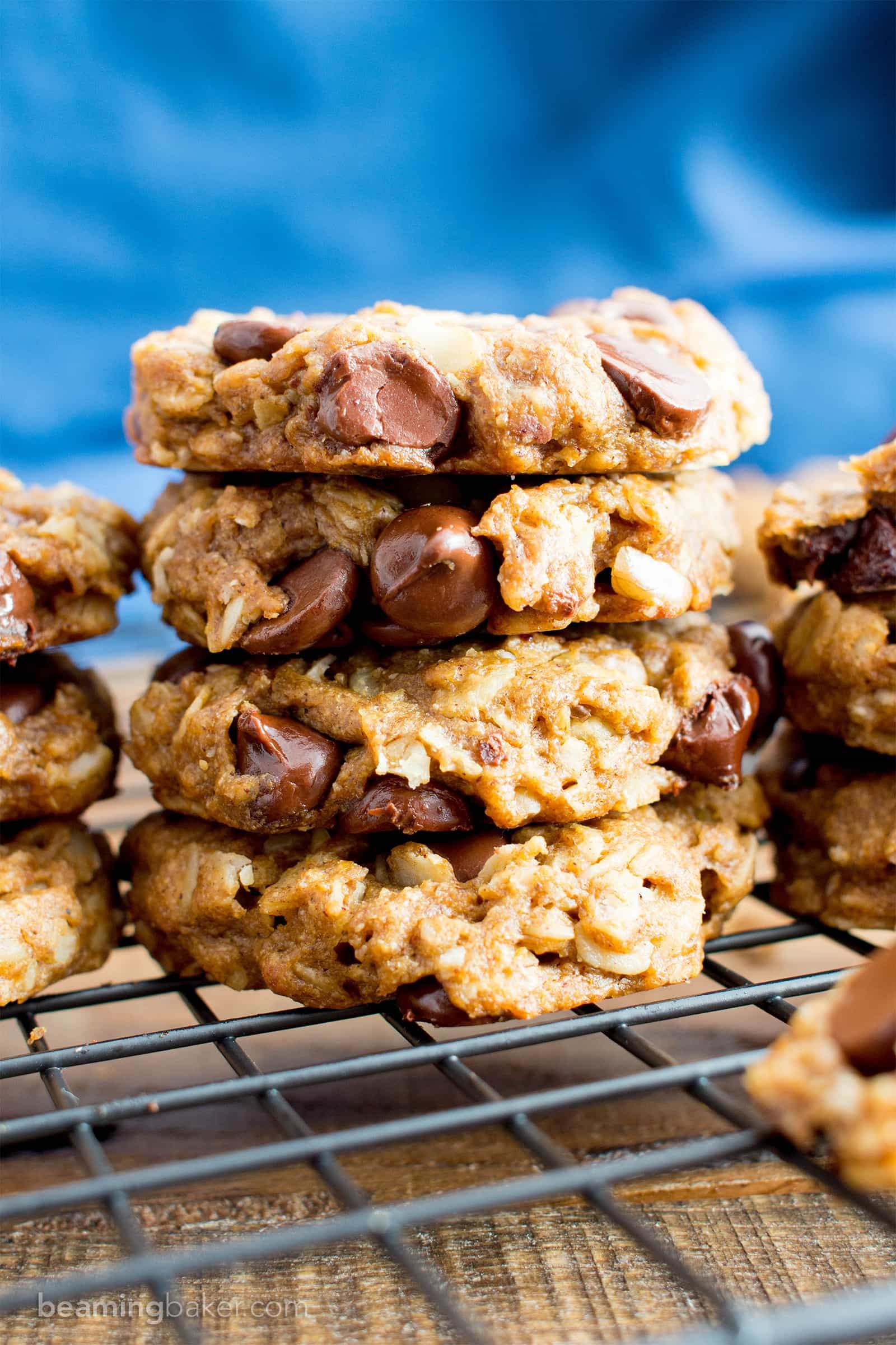 Easy Gluten Free Peanut Butter Chocolate Chip Oatmeal Cookie