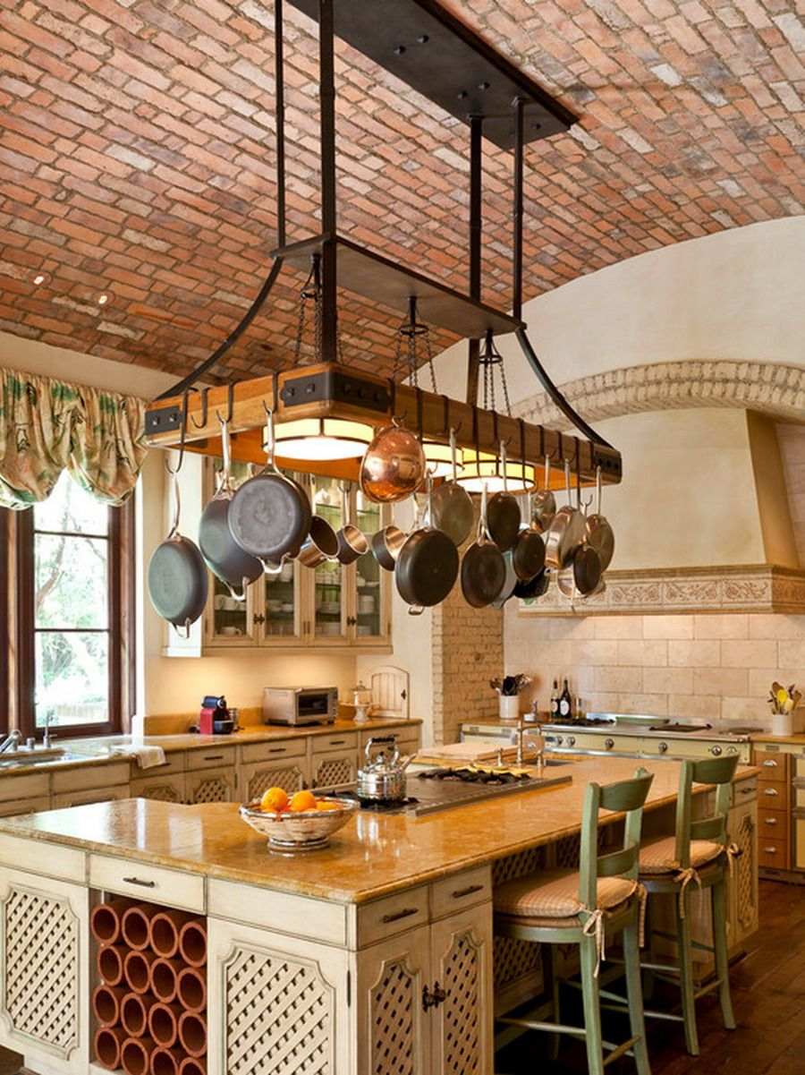 Customize Kitchen Pot Racks Over The Island Looking For Greatest Design