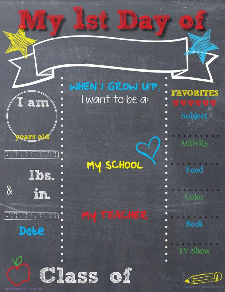Printable BacktoSchool Chalkboard Sign