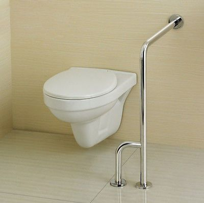 modern stainless steel toilet disabled shower safety support grab bar handrail