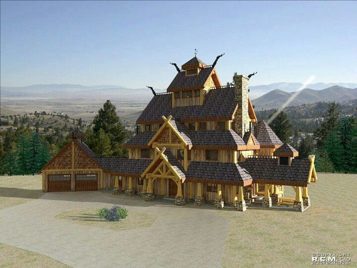 Modern Longhouse Viking House Log Home Designs Architecture