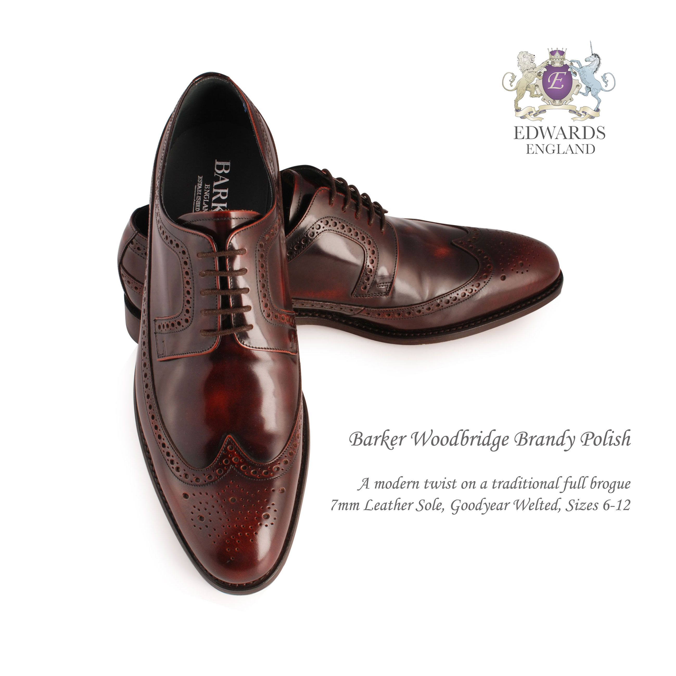 Full-Brogue Oxford in Brandy