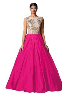 af49e868c86122 Western Dresses - Style Amaze Bollywood Designer Silk Rani Pink Color Party  Wear Gown(SASUNDAY-1015R)