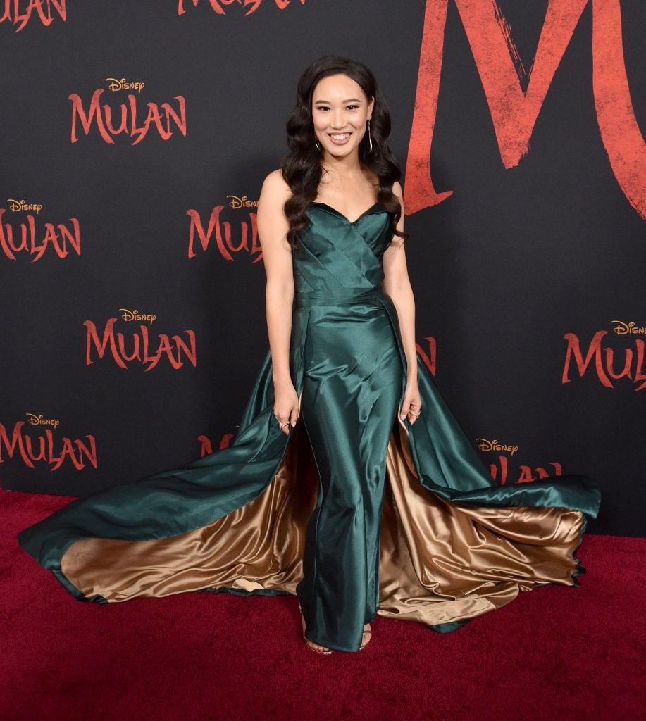Celebs At The Mulan World Premiere Red Carpet Looked Like Princesses And Princes Irl In 2020 Red Carpet Looks Celebs Strapless Dress Formal
