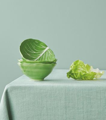 LETTUCE WARE SOUP BOWL, SET OF 4 			 - GREEN
