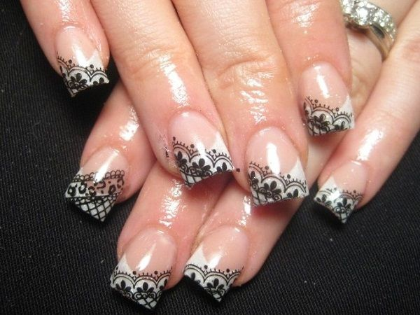 sweet black and white lace nail art designs picture on visualizeus bookmark pictures and videos that inspire you social bookmarking of pictures and