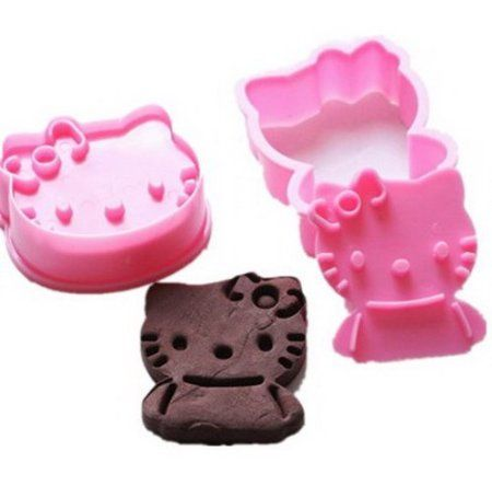 y boa set de 2 moule g teau cookies hello kitty rose. Black Bedroom Furniture Sets. Home Design Ideas