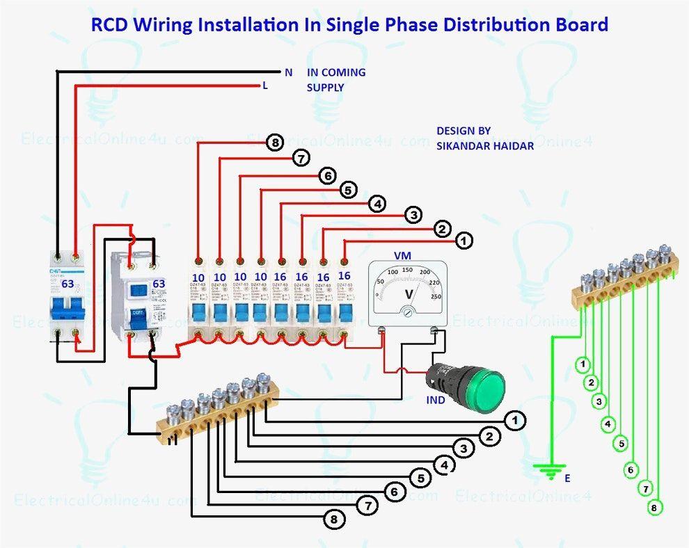 Nice Home Distribution Board Pictures Inspiration Simple Wiring Diagram Images Instalacion Electrica Proyectos Electricos Curso De Electricidad Industrial
