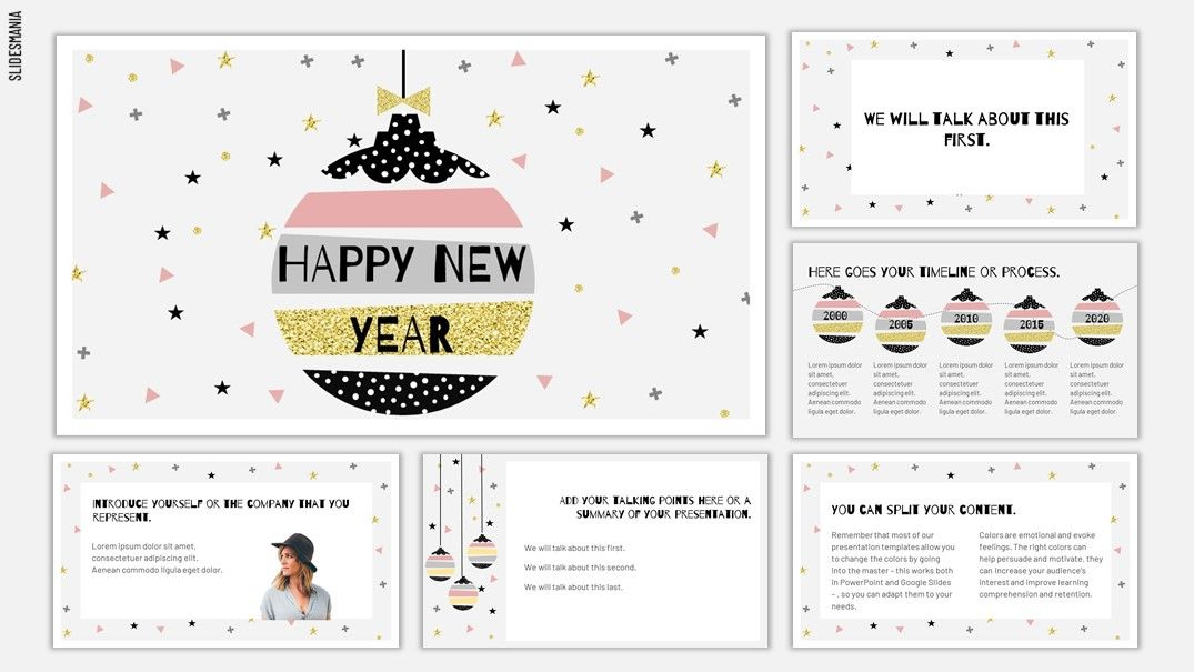 New Year 20192020 Template for Google Slides or