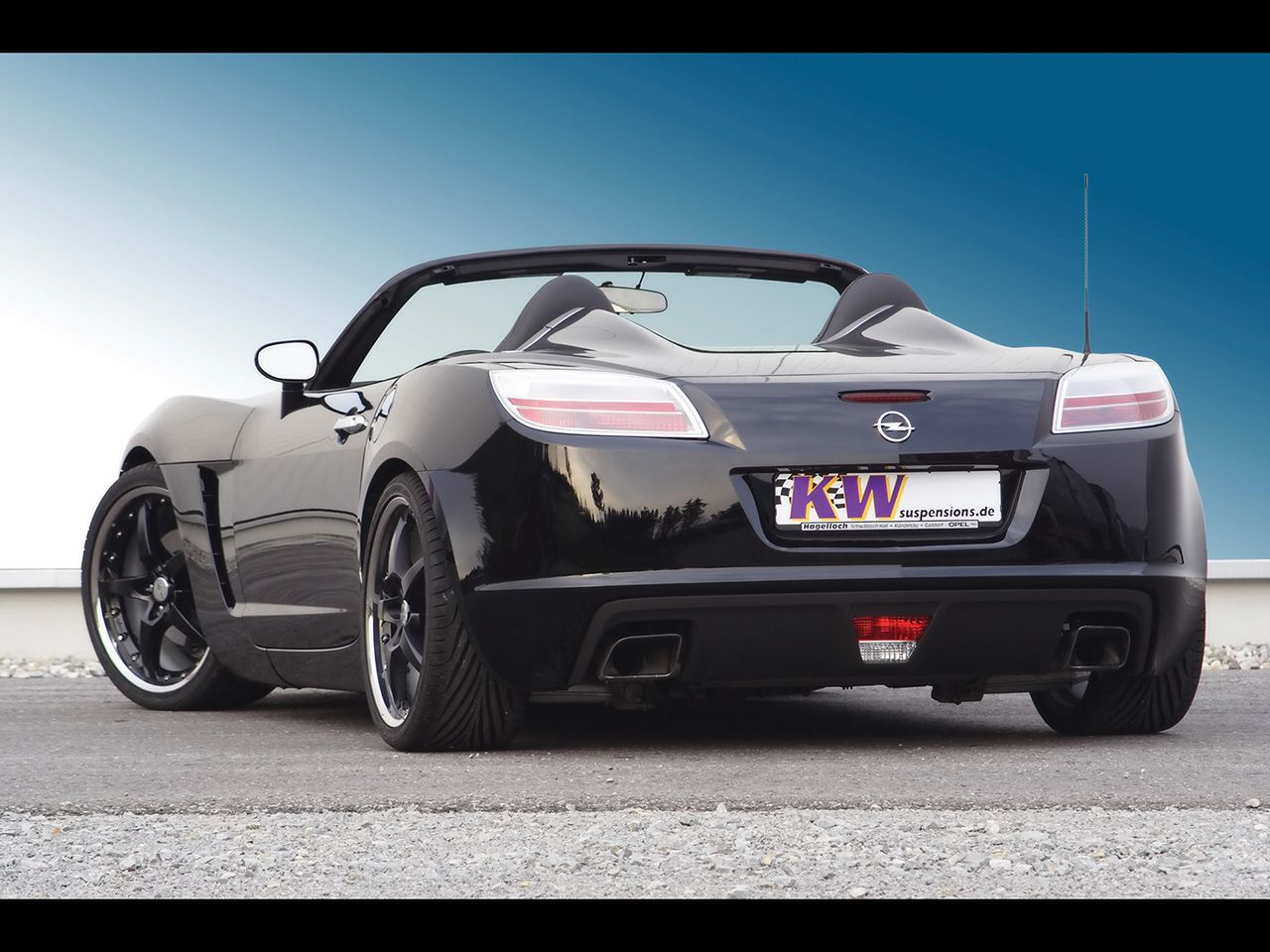 Opel Gt With Kw Coilover Suspension V Rear Angle Opel Saturn Sky Pontiac Solstice