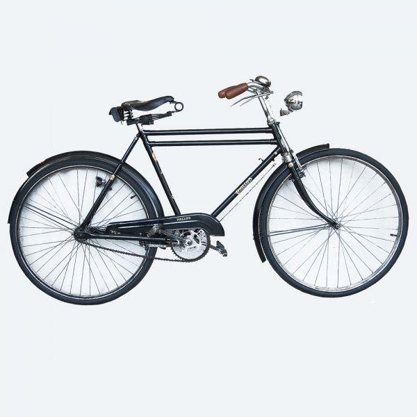 Bicicleta Phillips 1937. Aro 28. Inglesa. Farol e lanterna da marca ...