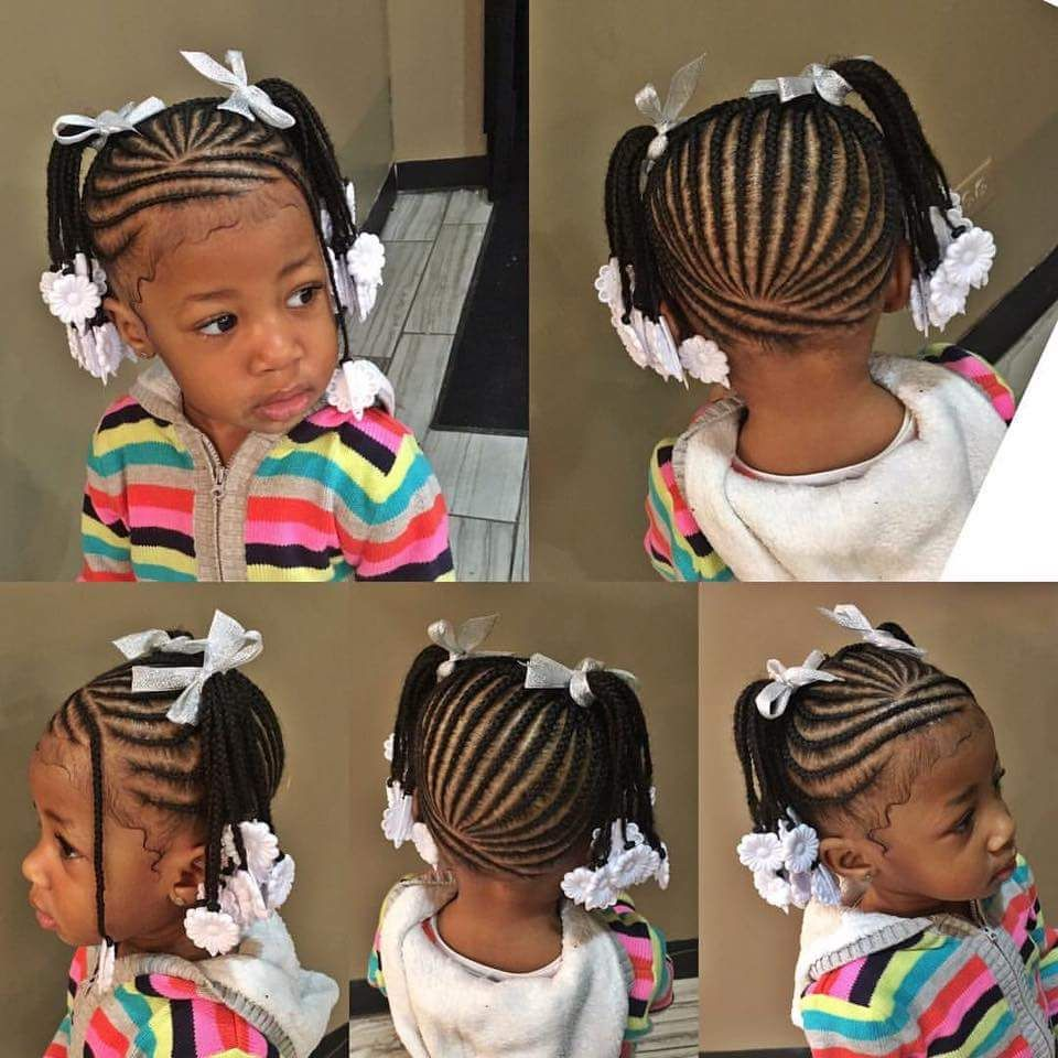 Pin By Kendeana Berry On Kid Styles Baby Girl Hairstyles Hair Styles Lil Girl Hairstyles