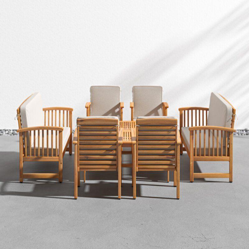 Mirando 4 Piece Sofa Set With Cushions Reviews Allmodern Outdoor Sofa Sets Contemporary Outdoor Sofas Sofa Set