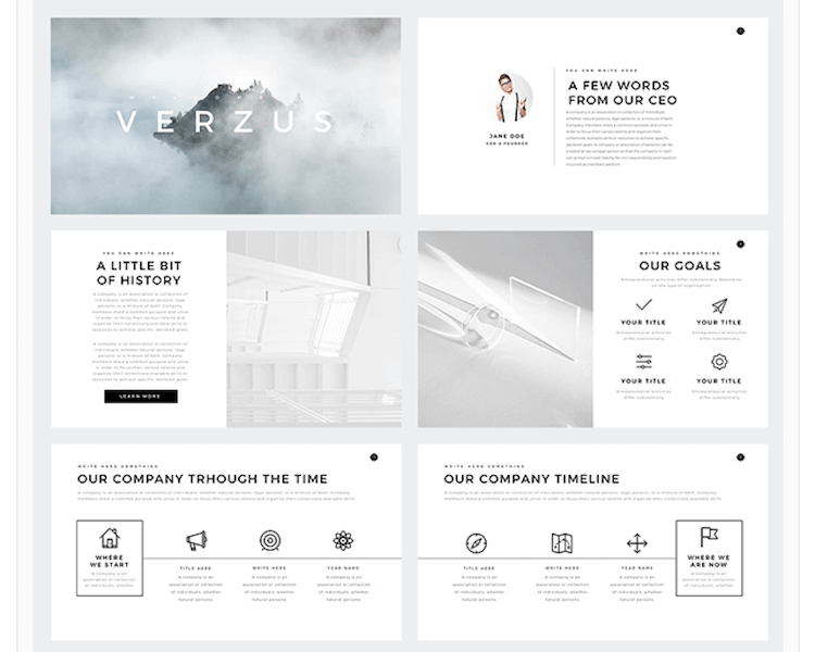 Verzus Minimal Powerpoint Template Min  Marketing