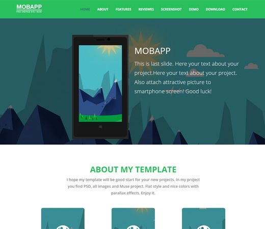 Bootstrap Website Templates Mobapp A Mobile App Based Flat Bootstrap Responsive Web Template