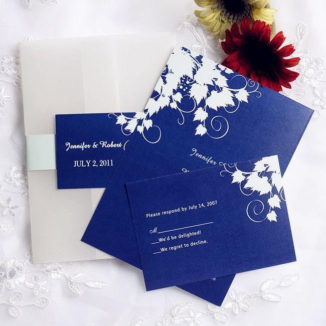 Royal Blue Leaves Vellum Pocket Wedding Invitations Inps075 Inps075 0 0 Pocket Wedding Invitations Blue Wedding Invitations Royal Blue Wedding Invitations