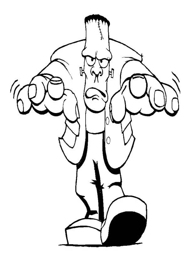Furious Mr Frankenstein On Halloween Day Coloring Page Download Print Online Coloring Page Cartoon Coloring Pages Halloween Cartoons Monster Coloring Pages