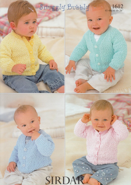 c8bbc2775 Baby Cardigan Knitting Patterns - Sirdar Snuggly Bubbly  1612 ...