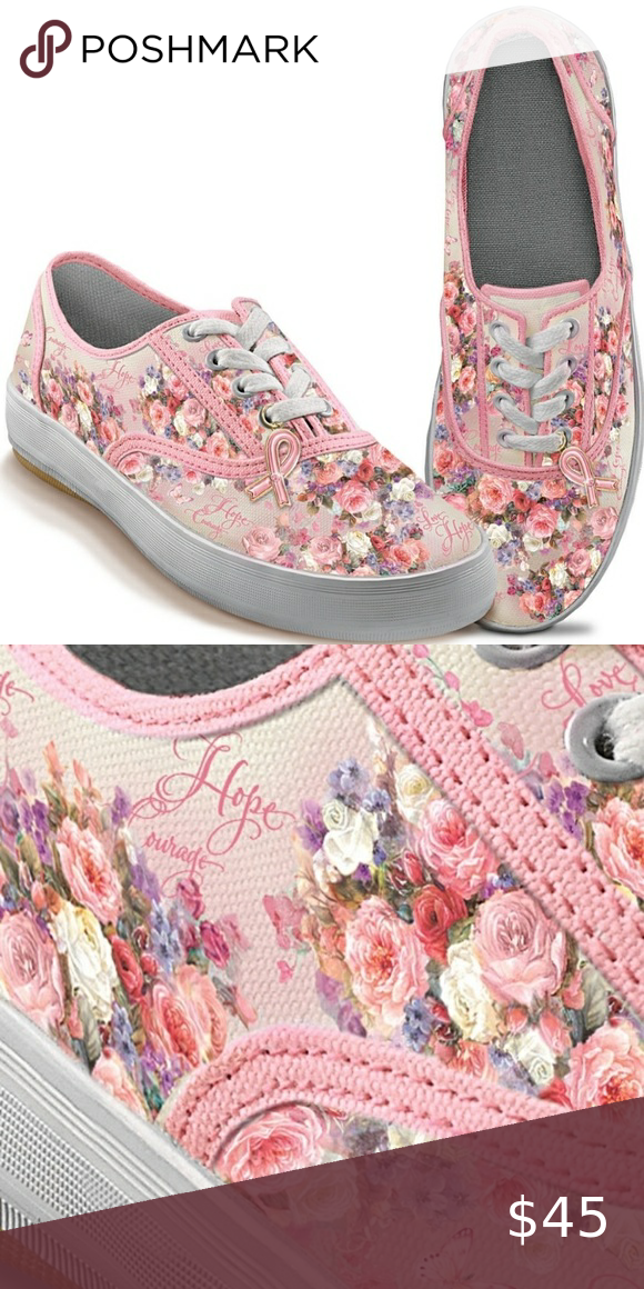Bradford Exchange Lena liu breast cancer sneakers