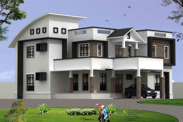 3057 Sq Ft 4 Bhk Contemporary Kerala Villa Design Free House Plans Home Design Interior Designs Ideas Kerala House Design House Design Villa Design