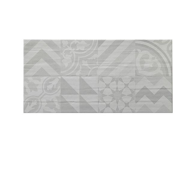 Carrelage mural Gris 25 x 60 cm Spada - CASTORAMA Salles de bain