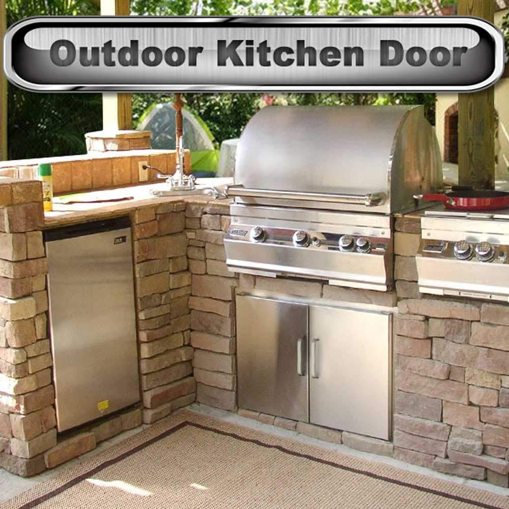 Seeutek Outdoor Kitchen Doors Bbq Access Door 31w X 24h Inch Stainless Steel Double Wall Construction Vert Outdoor Kitchen Grill Kitchen Doors Outdoor Kitchen
