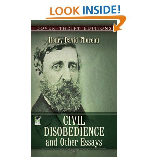 Amazoncom Civil Disobedience And Other Essays Dover Thrift  Civil Disobedience And Other Essays Dover Thrift Editions