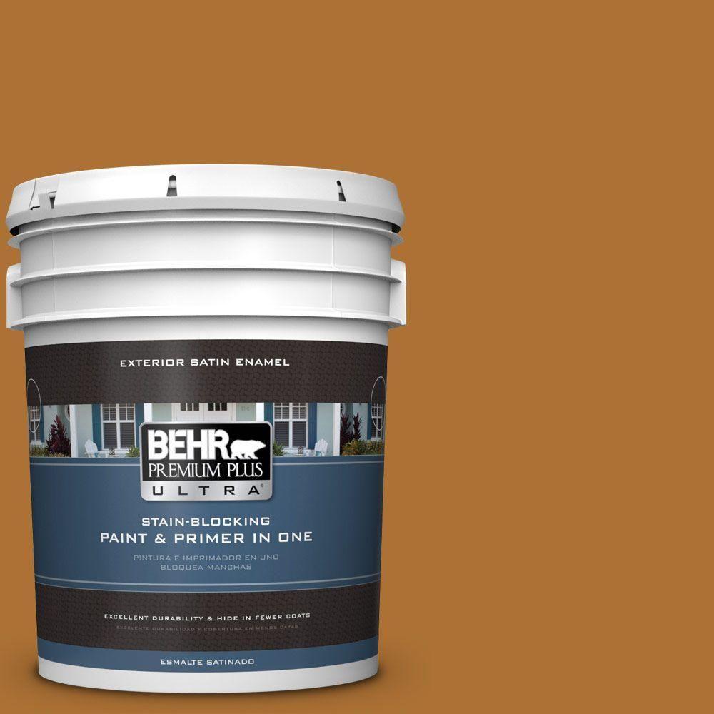 BEHR Premium Plus Ultra 5-gal. #S-H-320 Enchanting Ginger Satin Enamel Exterior Paint